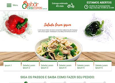 Tela do sistema de delivery online da EquipeDigital.com
